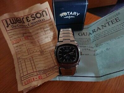 £5 • Buy Mens Rotary Wind Up Watch Bought 1980 Still Working Scratches On Face