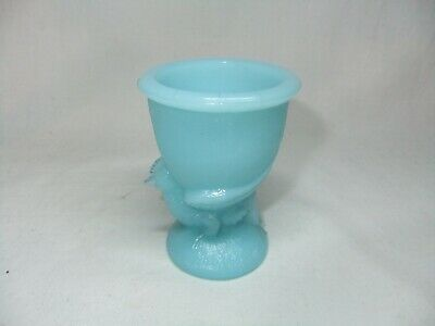 $27.49 • Buy Victorian French Blue Milk Glass Hen Chicken Shaped Egg Cup