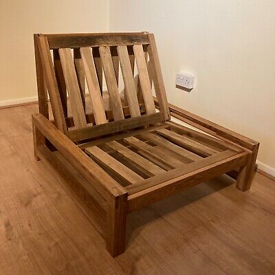 £10.50 • Buy Single Seater Solid Oak Sofa Bed (Linear) From Futon Company