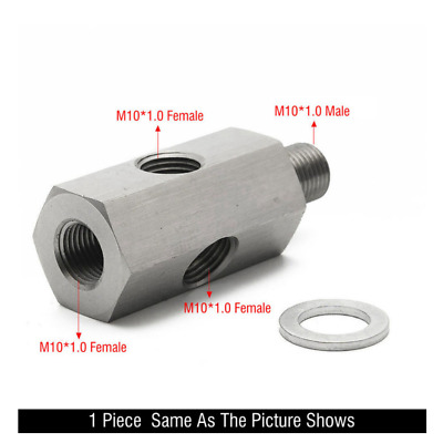$20.99 • Buy M10 Adapter Turbo Oil Feed Adapter Fitting For Aftermarket Gauge For Subaru