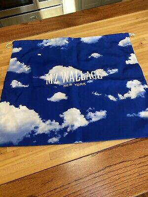 $6 • Buy MZ Wallace New York Blue Clouds Purse Dust Bag Drawstring NEW