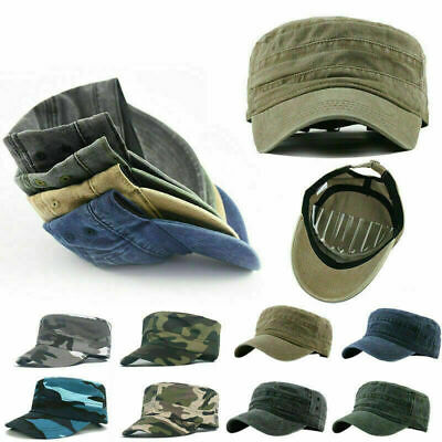 £4.44 • Buy Men's Classic Army Summer Military Camo Cap Hat Cadet Patrol Style Spring Summer