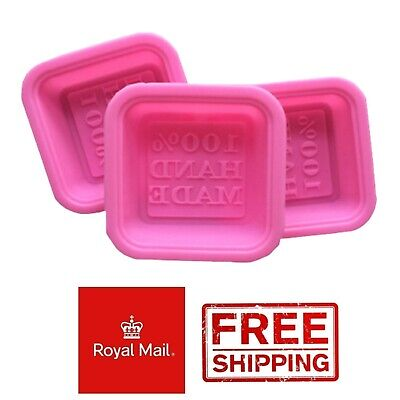 £2.99 • Buy 6 Homemade Square Silicone Mould Chocolate Soap Candles Mold Beeswax Wax