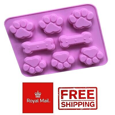 £2.89 • Buy Dog Paw And Bone Silicone Mould Chocolate Jelly Jellies Wax Melts Bones Treats