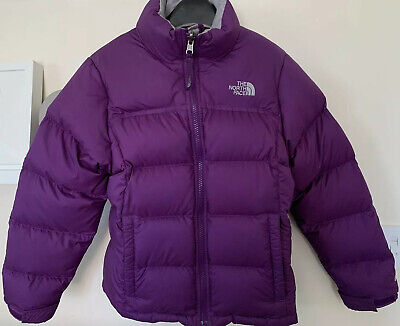£59.99 • Buy The North Face Nuptse Purple Down Puffer Coat Jacket Girls Age 8-10 Years
