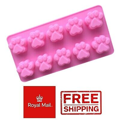 £2.99 • Buy 10 Paw Dog Silicone Mould Chocolate Jelly Jellies Ice Wax Melts Cat Treats Gummy