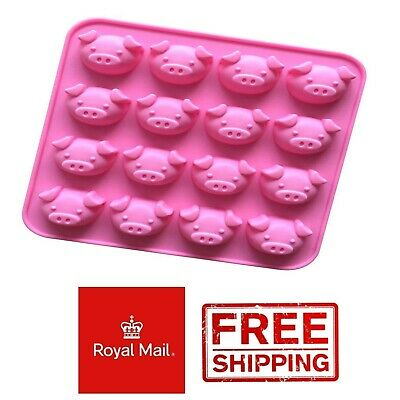 £2.99 • Buy Pig Faces Silicone Mould Chocolate Jelly Jellies Ice Wax Melts Pigs Face Baking
