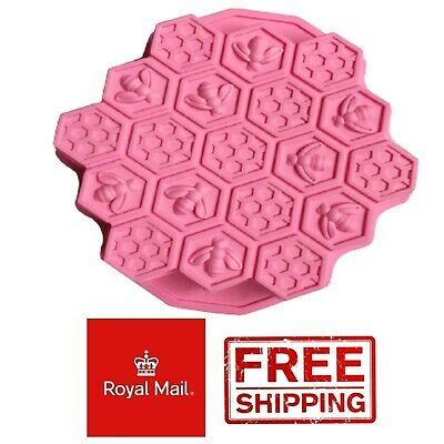 £5.99 • Buy Honeycomb Silicone Mould Chocolate Cake Honey Bees Jelly Jellies Ice Wax Melts