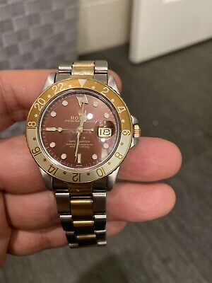 $ CDN18819.80 • Buy Rolex 16753 Gmt Master Eyes Of The Tiger Brown Service By Rolex