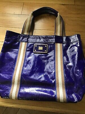 £45 • Buy Anya Hindmarch Blue Leather Tote Bag