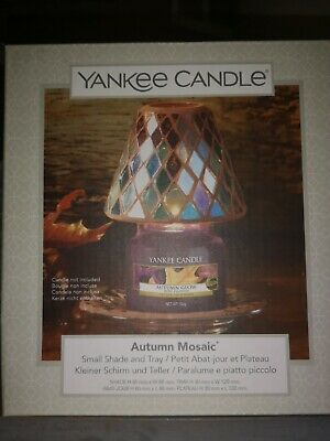 £9 • Buy Yankee Candle Autumn Mosaic Shade And Tray Set For Small Jars. New Htf