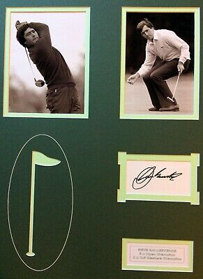 £109 • Buy Seve Ballesteros INK Signed Autograph Ryder Cup Signature Open Rory Tiger Bryson