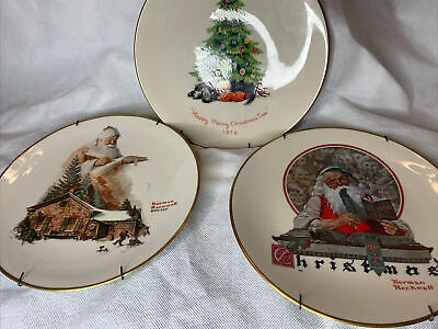$ CDN19.58 • Buy Vintage  Norman Rockwell Christmas Plates Lot  Gorham Fine China  & Moppets