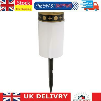 £7.02 • Buy Solar Power Grave Lawn Light Flameless Electronic LED Candle Lamp (White)