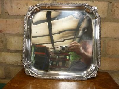 £29.99 • Buy Nice Vintage Cavalier 12  Square Tray Sliver Plated Shell Rim Decoration