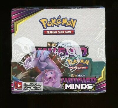 $350 • Buy Pokemon SUN & MOON UNIFIED MINDS Booster Box Factory Sealed Tcg 36 Packs NEW