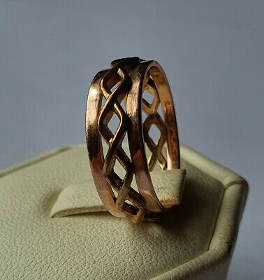 £180 • Buy 9ct Gold Clogau Yellow Gold And Rose Lady Band Ring