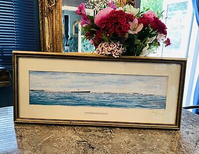 £225 • Buy Artist Signed Print Of The RN Fleet Review 1994 Off Spithead (Royal Provenance)