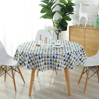 £9.79 • Buy Washable 150CM Tablecloth Cover Protector Round Wipe Clean Cotton Table Cover