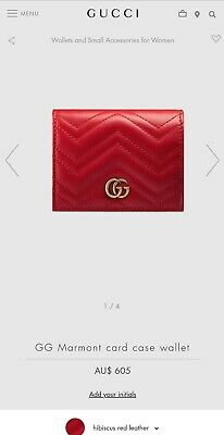 AU570 • Buy Gucci Marmont Card Wallet Womens