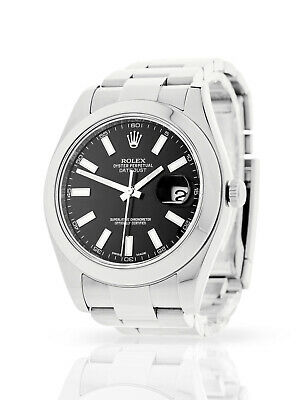 $ CDN11858.08 • Buy 2015 Rolex Datejust Ii 116300 Black Dial Box & Papers Recently Serviced