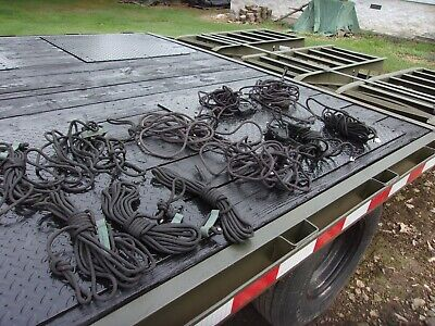 $195 • Buy 11- Eleven --military Surplus Nylon Ropes Tent Tarp Truck Trailer 20  Ft Us Army