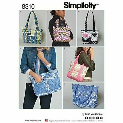 £10.43 • Buy SIMPLICITY Sewing Patterns~ 8310 Misses Women Ladies Quilted Bags+Totes One Size