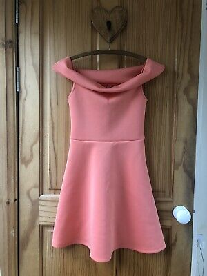 £11.50 • Buy Lipsy Girls Orange / Coral Skater Dress 9-10 Years VGC Worn Only Once