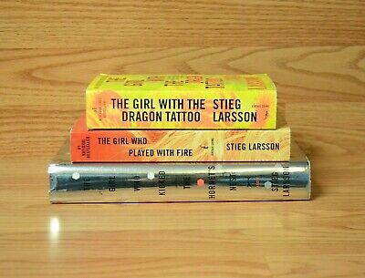 $11.50 • Buy Stieg Larsson LOT OF 3 Books Millennium Trilogy / Girl WIth The Dragon Tattoo