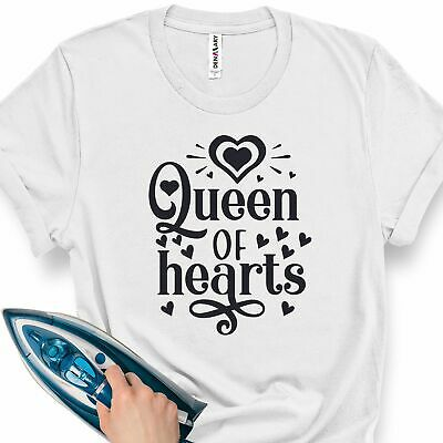 £4.95 • Buy Ladies Iron T-Shirt Transfer Queen Of Hearts Valentines Day Valentine Day Value