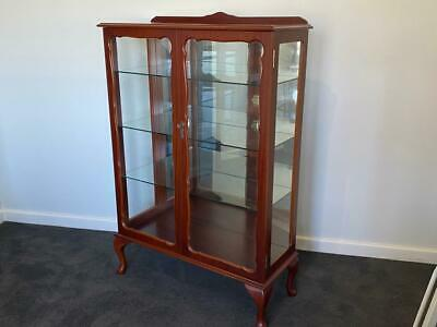 AU345 • Buy $1299rrp C.1980 High End Zoanetti Mirror Backed Quality Showcase Display Cabinet