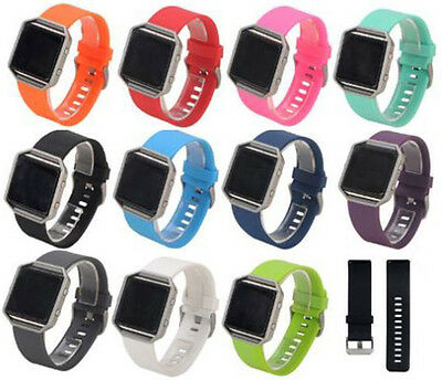 $ CDN4.48 • Buy Replacement Watch Strap For Fitbit Blaze Wristband Band Secure Metal Buckle