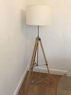 £28 • Buy Wooden Tripod Floor Lamp With Lamp Shade