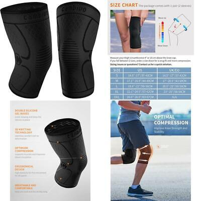 $23.94 • Buy Cambivo 2 Pack Knee Brace, Knee Compression Sleeve Support For Men And Women, Ru