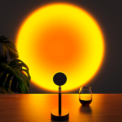 AU9.99 • Buy Sunset Projector Projection 10W USB Atmosphere LED Night Lights Lamp Home Decor