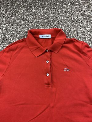 £12 • Buy Womens Lacoste Red 3/4 Sleeve Polo Shirt Size 38(M) See Description For Info