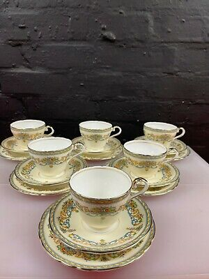 £59.99 • Buy 6 X Aynsley Henley Tea Trios Cups Saucers And Side Plates Set