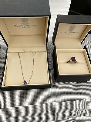 AU1750 • Buy White Gold, Diamond, Modern And Amethyst Set As New From Hardy Bros.