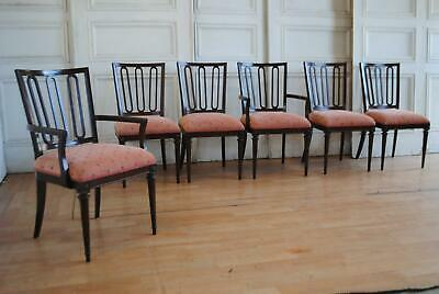 AU375 • Buy Fab Set 6 Vintage Aust Made  Dining Chairs - Suit Mid Century Retro Modern