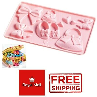£2.79 • Buy Disney Minnie Mouse Accessories Bows Plastic Mould Wax Melts Ice Chocolates Mold