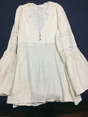 AU190 • Buy Spell And Gypsy Design Off White/ Cream Short Dress / Top XL