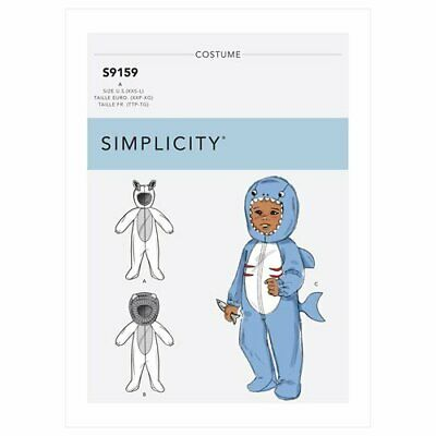£9.43 • Buy SIMPLICITY Sewing Patterns~9159 Baby Infant Fawn+Lion+Shark Animal Costume Xxs-l