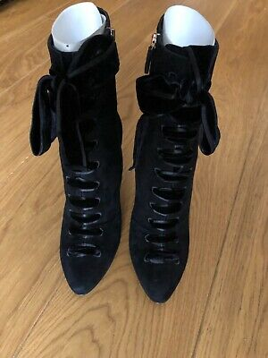 £155 • Buy Gucci Ladies Black Suede Ankle Boots Size UK 5.5/38.50 With Box