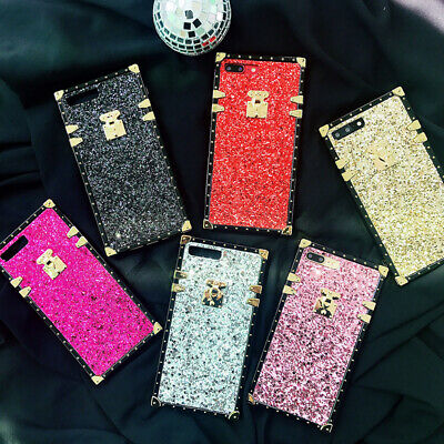 £3.99 • Buy Square Bling Metal Glitter Phone Case For OPPO A39 R11S R9 R17 R15 Pro Realme X