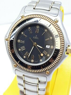 £701.74 • Buy MINT EBEL 183913 DISCOVERY 18K GOLD / STEEL DIVER 200m DATE WATCH MEN'S ROTATE B