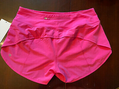 $ CDN99.99 • Buy Lululemon Sonic Pink NWT Speed Up Short Size 10 Mid Rise 4in Rare 🦄 Lined