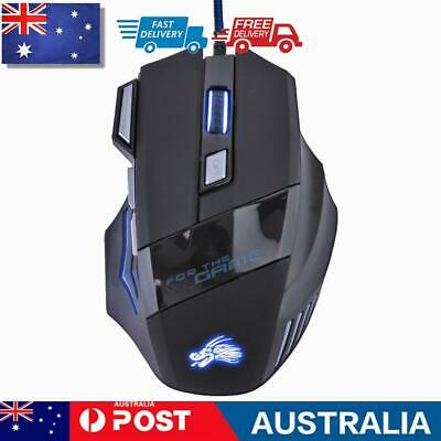 AU11.06 • Buy 5500DPI LED Optical USB Wired Gaming Mouse 7 Buttons Gamer Computer Mice