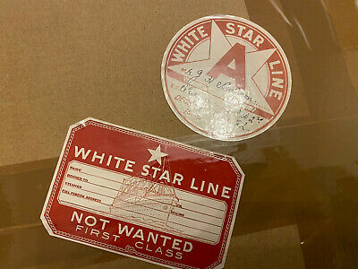 £3 • Buy 2 White Star Line Titanic And Olympic Luggage Tags
