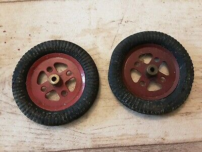 £2.99 • Buy Meccano 2 X #142a Early 1950s Tyres On 2  Pulleys For Static Model