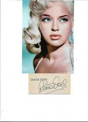 £99.99 • Buy A Young Diana Dors 7 X 5 Inch Colourized Photo & 4 X 2 Inch Hand Signed Card